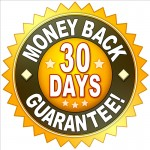 A money back guarantee symbol for your website